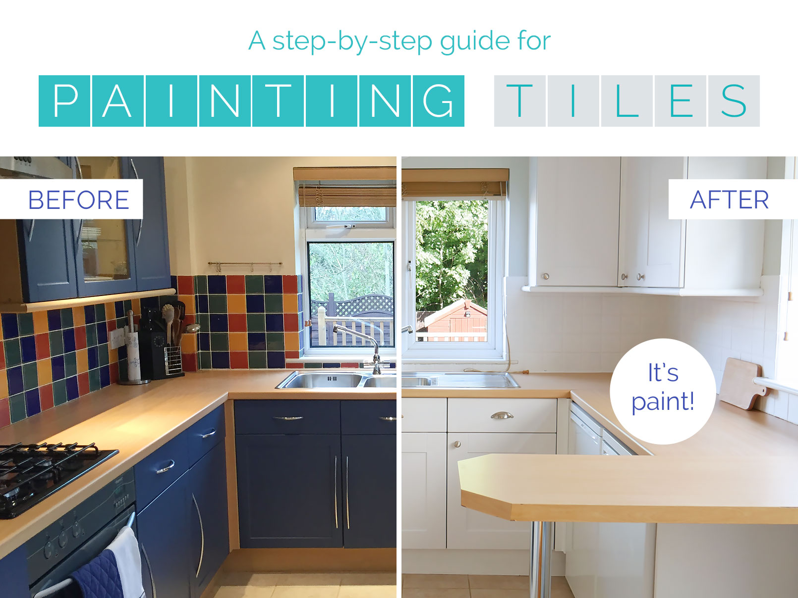 01 Oct Kitchen Makeover On A Budget How To Paint Tiles